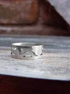 Leaf ring Sterling silver ring Made to order Nature by aforfebre