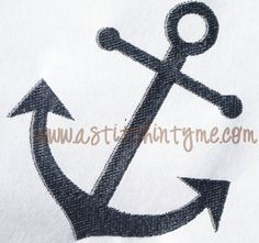 Anchor Machine Embroidery Design by AStitchInTymeLLC on Etsy, $3.00