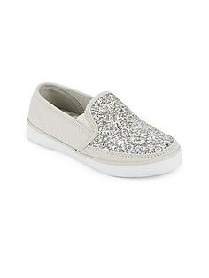 hanna Andersson Girl's Sequined Flatform Sneakers -