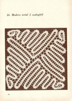 szalaghorgolás01 - TitinaKrkM - Picasa Web Albums Filet Crochet, Irish Crochet, Crochet Doilies, Crochet Lace, Crochet Stitches, Bruges Lace, Needle Lace, Bobbin Lace, Romanian Lace