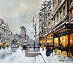 Antoine Blanchard is the pseudonym of the French painter, Marcel Masson Blanchard was often introduced to collectors as the foremost artist of Parisian street scenes of his day. Hank Marvin, Billie Holiday, Arctic Monkeys, Marcel, Francois Feldman, Marie Laforêt, St Denis, Paris Painting, Paisajes