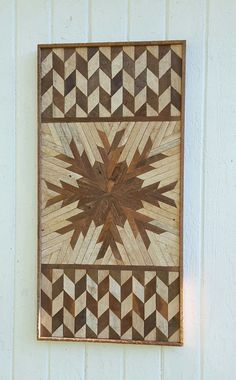 Reclaimed Wood Wall Art, Wall Decor, Lath Art, Natural, Desert Rose, Geometric Design, Gift Ideas, Rustic Vintage Wood