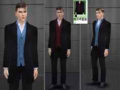 The clothing category: everyday, formal, party, career  Found in TSR Category 'Sims 4 Male Formal'