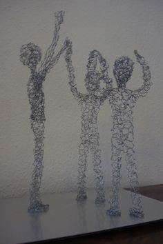 Danseurs - Tänzer, fil de fer - Draht, H env. 40 cm, 2012