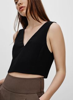 WILFRED DAUPHINE TANK - <p>Slick Japanese fabric in a cropped silhouette</p>