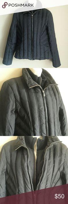 Michael Kors Black Winter Jacket Michael Kors Black Winter Jacket 55% Down  45% WaterFowl Feathers  Double Zipper  Size M Michael Kors Jackets & Coats