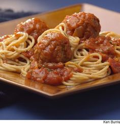 Old-Fashioned Spaghetti & Meatballs  WebMD Recipe from EatingWell.com  To stretch the ground beef, we use high-fiber bulgur and whole-wheat breadcrumbs in the meatballs, which are baked rather than fried.