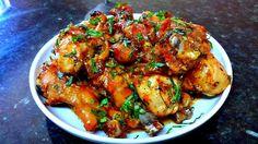 Baked and glazed chicken drumsticks. Best Chicken Recipes, Meat Recipes, Asian Recipes, Asian Foods, Cooking Recipes, Ethnic Recipes, Baked Drumsticks, Chicken Drumsticks, Chicken Wings