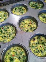 Irreplaceable is being different: Quick breakfast: eggs pre-made in muffin tin
