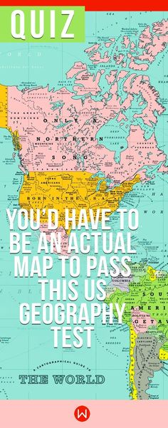Questions and answers general knowledge quiz trivia pinterest quiz youd have to be an actual map to pass this us geography test gumiabroncs Image collections