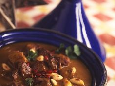 Lamb tagine is a recipe with fresh ingredients from the lamb category. Try this and other recipes fr Lamb Tagine Recipe, Organic Ceramics, Marinate Meat, Roasted Almonds, American Food, Vegetarian Recipes, Chicken Recipes, Food And Drink, Yummy Food
