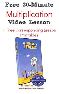 Free 30-Minute Multiplication Video Lesson + Free Corresponding Lesson Printables + More