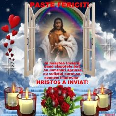 Paste... Christ Is Risen, Candles, Happy, Illustration, Quilling, Quotes, Folklore, Mariana, Virgin Mary