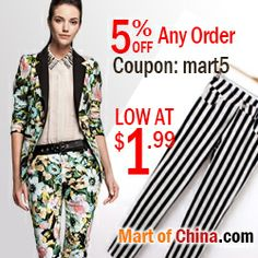 5% Off Any Order at Martofchina.com with Coupon: mart5 Discount Womens Clothing, Brides, Coupon, Women's Fashion, Clothes For Women, Book, Amazing, Inspiration, Style