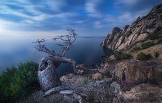 Night landscape in crimea mountains by Denis Belitsky (Crimea)