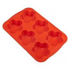 #Muffin-Backform Blume orange #baking #backen #Backform