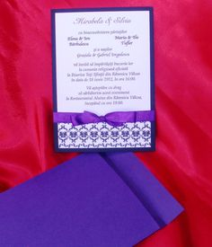 Invitatie de nunta Purple Tease, realizata din cartoane sidefate. Invitatia este accesorizata cu o panglica de culoare violet. 4, 5 RON* *Pretul include TVA, personalizare (imprimare color) si plic Violet, Frame, Home Decor, Fashion, Picture Frame, Moda, Decoration Home, Room Decor, Fashion Styles