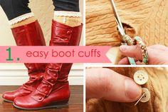 Easy boot cuffs Cute fall and winter staple piece
