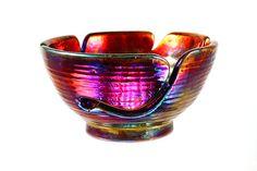 Lais Ceramic Yarn Bowl Raku Pottery YB13208 by CHpottery on Etsy