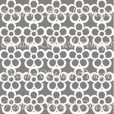 Pansies Allover Decorative Stencil MULTIPLE by CreativeStencils