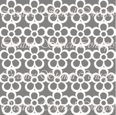 Pansies Allover Decorative Stencil MULTIPLE by CreativeStencils