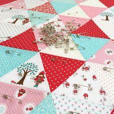 Quilt in Progress: Little Red Riding Hood fabric designed by Tasha Noel for Riley Blake Designs
