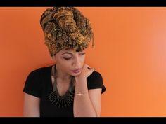 Simple Head Wrap Tutorial - YouTube
