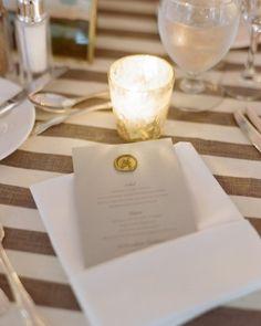 menu card with wax seal