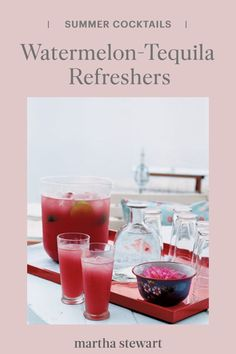 Best Summer Cocktails, Easy Cocktails, Fun Drinks, Cocktail Recipes, Mixed Drinks, Watermelon Tequila, Smoothie Blender, Smoothies, Summertime Drinks