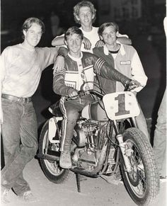 """Of this prescient photo, Kenny Roberts said, """"After Mert Lawwill's chain broke at Ascot  in 1970, I jumped on the #1 Harley Sportster and said, 'Take my picture. I'll be #1 some day.'"""""""