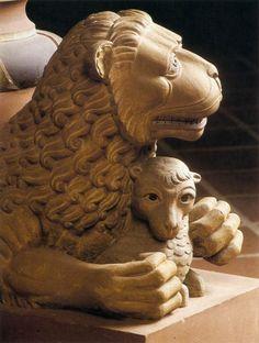 Lion Taking a Lamb c. 1140 Stone Monastery Church, Mariental.