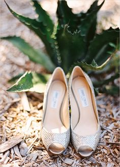 silver Jimmy Choo shoes