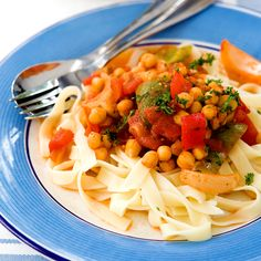 Tuck in to this delicious and healthy low fat Veg Pasta!