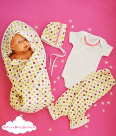 Newborn Baby Set Polka Dot Pant Baby Onesie by DoloresBabyBoutique Baby Flannel, Flannel Blanket, Polka Dot Pants, Polka Dots, Baby Christmas Gifts, Baby Bonnets, Baby Set, Baby Onesie, Baby Gifts