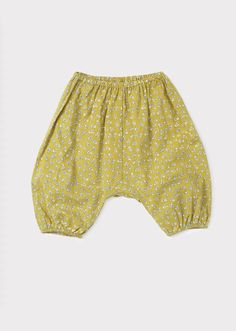 Parsley Baby Trouser, Olive Small Flower