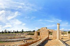 Cyprus Lemesos Sanctuary and Temple of Apollo Hylates. The complex of the sanctuary included a palaestra, stoa, the treasury, the baths, the archaic temenos, the circular monument, the central courtyard and the temple of Apollo.