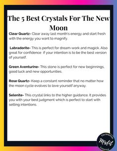 When working with the new moon phase here are the best new moon crystals to have in your new moon rituals. So make sure to bring them out every time the new moon comes around. That way you can focus on the best intentions for yourself and manifest the best life for you!