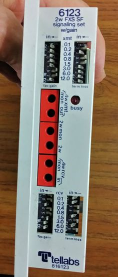 bellsouth inteliport idx card used as the network tellabs 6123 2w fxs foreign exchange station end plug in card used