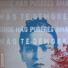 """Quadro box Frida Kahlo """"Onde não puderes..."""""""