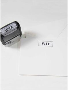WTF stamp from Terrapin stationers