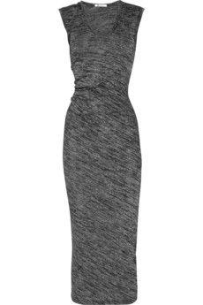 T by Alexander Wang Drape-back stretch-jersey maxi dress NET-A-PORTER.COM - StyleSays