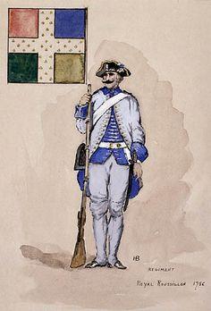 Régiment Royal Roussillon 1756.