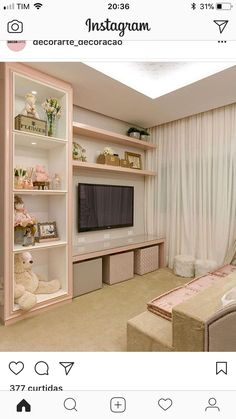 Bedroom Design Ideas – Create Your Own Private Sanctuary Baby Bedroom, Girls Bedroom, Bedroom Decor, Bedroom Ideas, Bedrooms, Diy Zimmer, Girl Bedroom Designs, Little Girl Rooms, Dream Rooms
