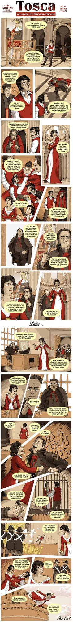 Opera Strip Puccini's Tosca