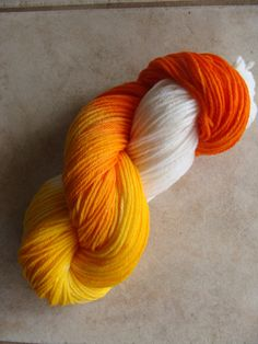 SOLD 9-21-12  Trick or Treat  Halloween inspired hand dyed by WoolAndTwoSticks, $15.00
