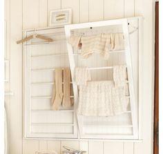 Inspiration For Moms: I Finished It Friday: Ballard Designs Inspired Beadboard Drying Rack Tutorial Laundry Room Drying Rack, Laundry Shelves, Drying Rack Laundry, Clothes Drying Racks, Laundry Hanger, Clothes Rail, Diy Clothes, Clothes Hanger, Rack Design