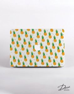 Hard Plastic PINEAPPLE Pattern MacBook Case Design for MacBook Pro, Macbook pro Retina Display and MacBook Air Case by DessiDesigns on Etsy