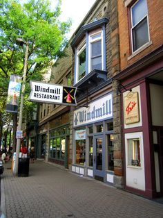 Windmill Restaurant, Downtown Holland, Michigan.  Breakfast all day, but the lunches are awesome too.  I suggest: hashbrown omelet, club sandwich, cinnamon roll, cheeseburger with olive sauce...