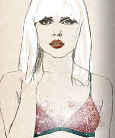 fashion illustration for dutch label Love Stories, intimate apparel brand