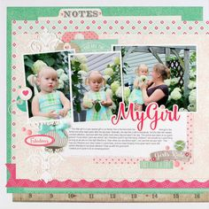 "Layout: Echo Park ""Petticoats"" - My Girl - Sweet photos coordinate perfectly to Echo Park's Petticoats collection."